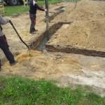 pierwszy beton poszedl