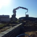 dostawa bloczków na fundamenty